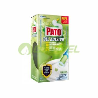 PATO GEL ADESIVO CITRUS COM 06 DISCOS REFIL
