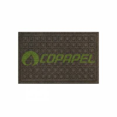 TAPETE KLEEN ECO BLOCKS 0,40M X 0,60M MARROM