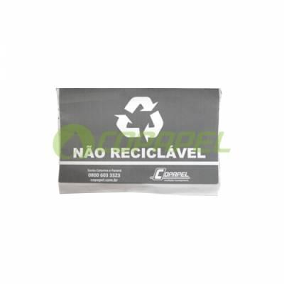 ADESIVO PARA LIXEIRA COLETA SELETIVA -  CINZA/NÃO RECICLÁVEL