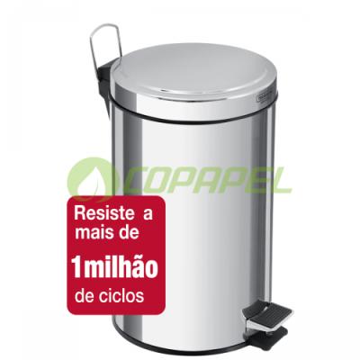 LIXEIRA 12 L INOX COM PEDAL