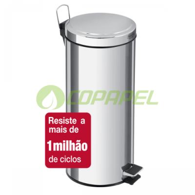 LIXEIRA 30 L INOX COM PEDAL