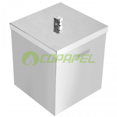 LIXEIRA 4,5 L INOX COM TAMPA SOBREPOR